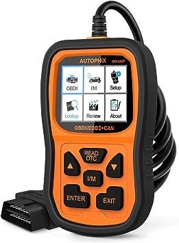 Autophix OM123 OBD II//OBD2 Automotive Diagnostics Code Reader Scan Tool Car Engine Fault Codes Scanner Auto Tester for OBDII Standard Vehicle Black