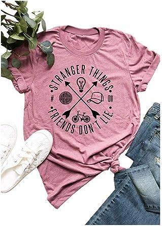 Camisa Vintage de los años 80 con Texto en inglés Stranger Things Friends Dont Lie: Amazon.es: Ropa y accesorios