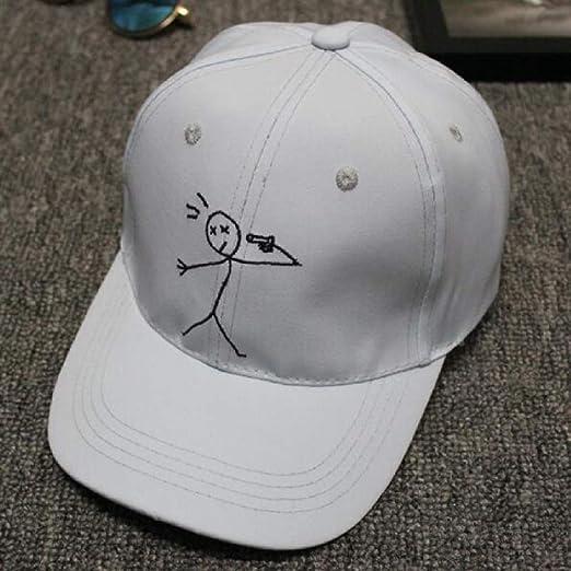 zhuzhuwen Gorra de béisbol Stickman de Dibujos Animados Sports ...