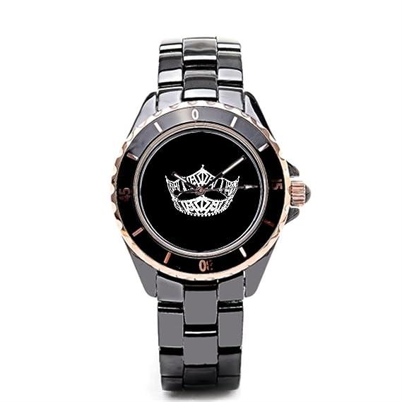 Reloj de pulsera, sjfy tiendas coronas pageants cerámica correas para relojes: Amazon.es: Relojes