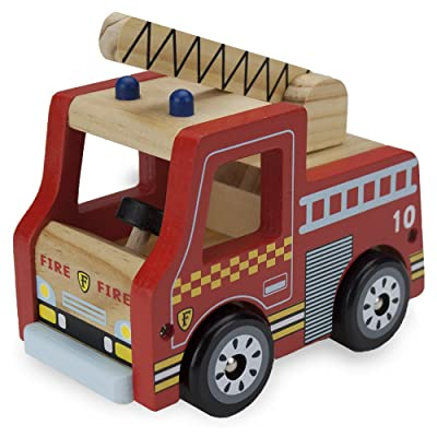 Wooden Wheels Natural Beech Wood Fire Engine by Imagination Generation: Toys & Games