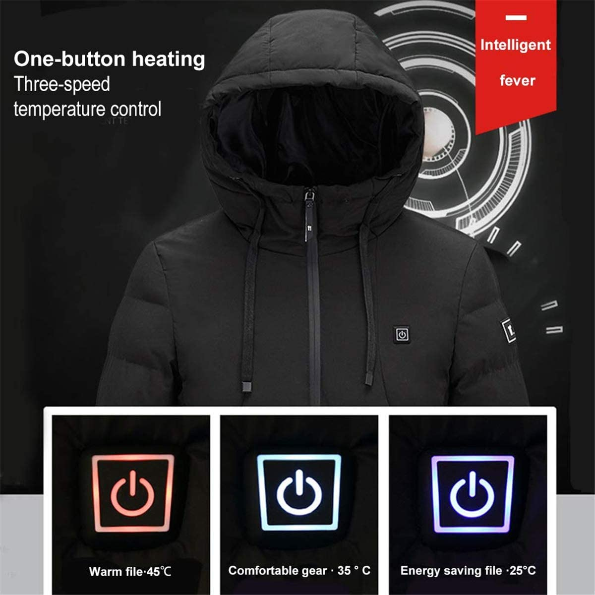 Heated Jackets For Men With A Battery Pack Included COFFEE CAT Heated Jackets For Men Waterproof Heated Jackets For Men Motorcycle