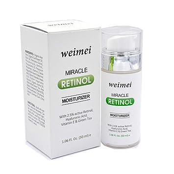 Retinol Crème - 2,5% Retinol, Vitamina E, Té Verde y ácido