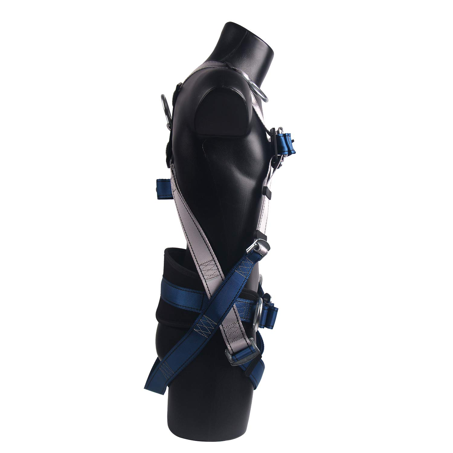JINGYAT Full Body Safety Harness Fall Protection with 5 D-Ring,Universal Personal Protective Equipment (130-310 pound),Construction Industrial Tower Roofing Tool by JINGYAT (Image #4)