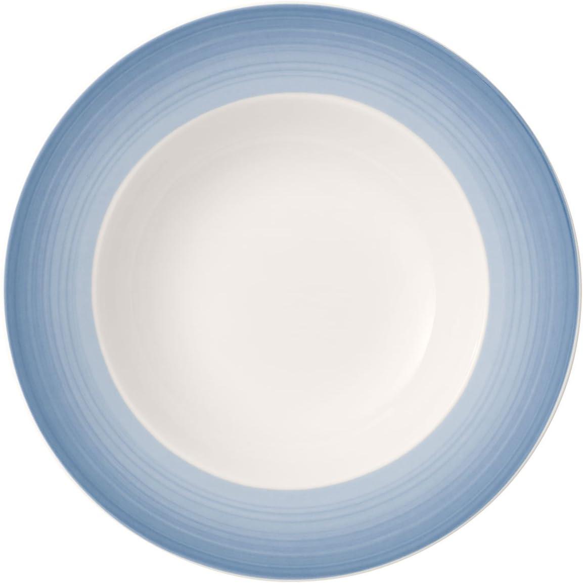 Porcelaine Premium Villeroy /& Boch Colourful Life Winter Sky Assiette /à dessert 21,5 cm Blanc//Bleu