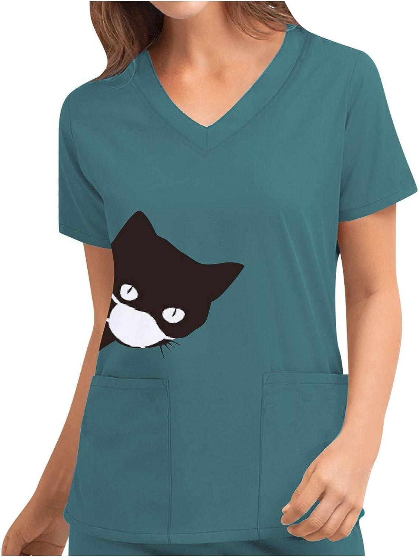 Uniformes Sanitarios Mujer y Hombre, Pijama Sanitario, Uniforme Enfermera Casacas Sanitarias Mujer Manga Corta Cuello V para Enfermeras, Dentistas, ...