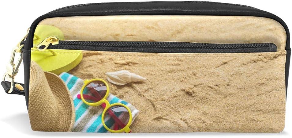 Estuche de verano para gafas de playa, estuche con compartimentos y cremallera para niños y niñas: Amazon.es: Oficina y papelería