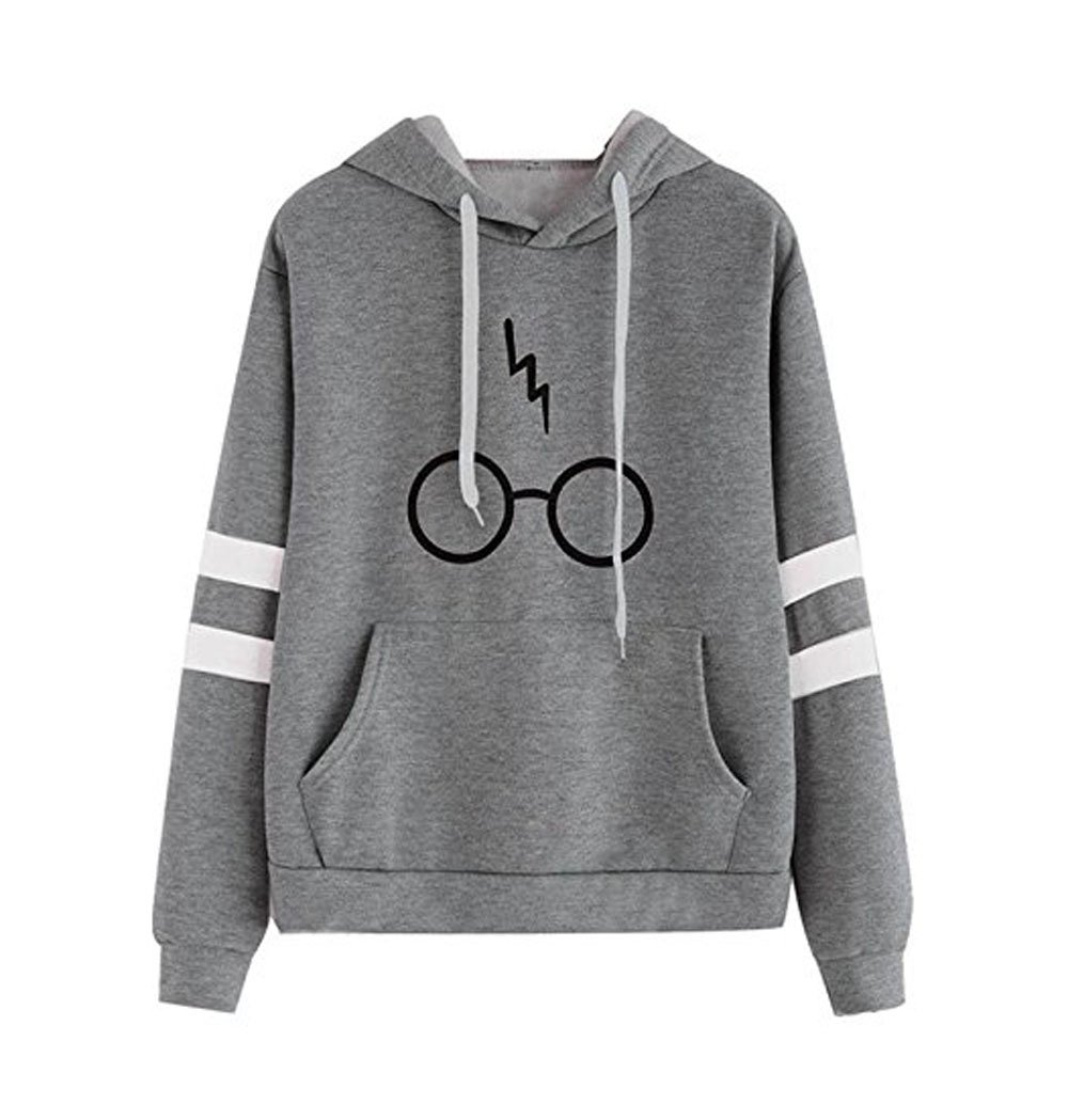 Newlife Autunno Manica Lunga Cappotto Giacca Felpa Con Cappuccio Gli Occhiali Harry Potter Stampare Sweatshirt Hoodies Donna
