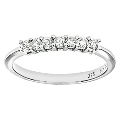 5a66133dce8 Naava 9ct Gold Third Carat Diamond Claw Set Eternity Ring  Amazon.co.uk   Jewellery