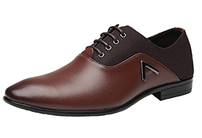 2733dcb2dd067 DADAWEN Homme Mode Casual Lace-up Oxford Chaussure: Amazon.fr ...