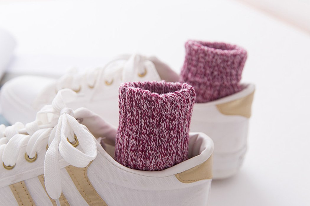 Yuhan Pretty 5 Pairs Womens Winter Warm Thick Knit Wool Cozy Vintage Crew Socks (Style 2, 5PCS) by Yuhan Pretty (Image #5)