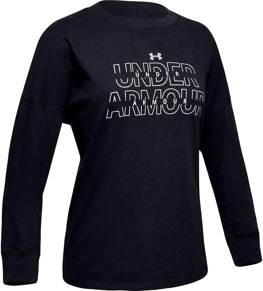 Under Armour Girls' Wordmark Long-Sleeve T-Shirt