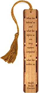product image for Personalized What Lies Within Us Quote by Ralph Waldo Emerson, Engraved Wooden Bookmark with Tassel - Search B071LQW9JK for Non-Personalized Version