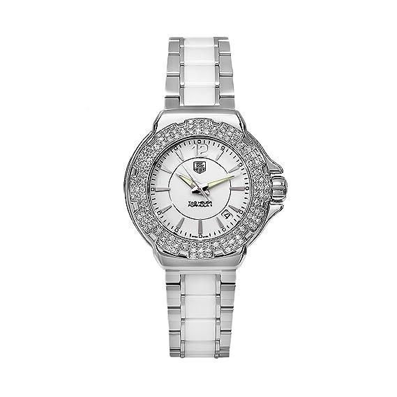 TAG Heuer WAH1215BA0861 - Reloj de pulsera mujer, cerámica, color blanco
