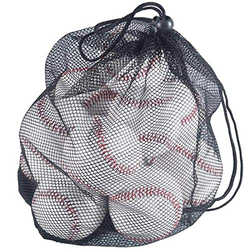 (Tebery 12 Pack Standard Size T-Ball Training Baseballs Reduced Impact Safety Baseballs Unmarked & Soft Practice Baseballs)