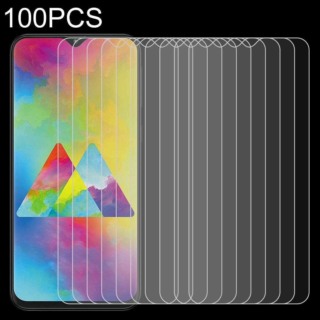 Premium Tempered Glass Screen Film 100 PCS 0.26mm 9H 2.5D Tempered Glass Film for Galaxy M20 Anti-Scratch Screen Protector