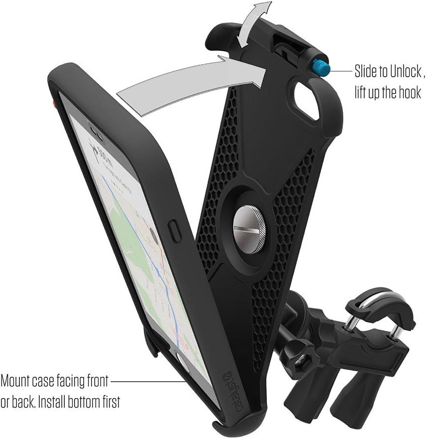 Hiking Adventure Trails Catalyst Bike Mount Compatible with iPhone 6 Plus//6s Plus Shock Resistant Biking