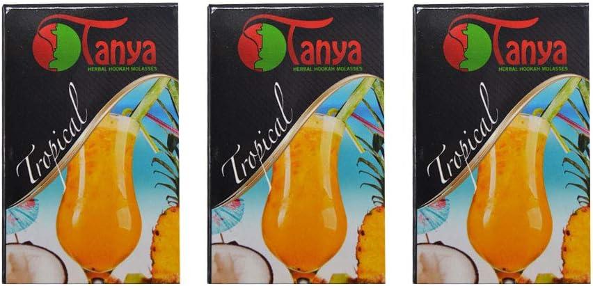 150 gr de hierbas Tanya tropical Melaza natural sin nicotina Shisha de la cachimba pipa Narguile