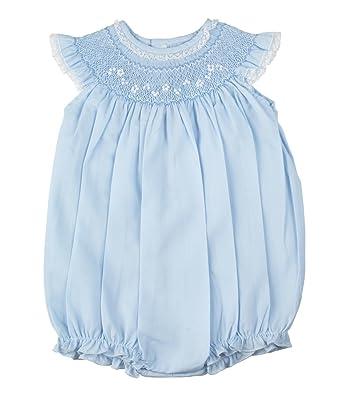 369bc51a70c Amazon.com  Feltman Brothers Girls Blue Smocked Bubble Infant  Clothing