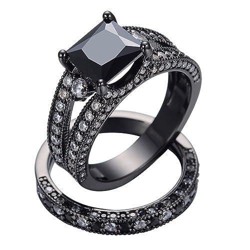 Amazon.com: T & f-jewelry Negro Onyx joyería clásico ...