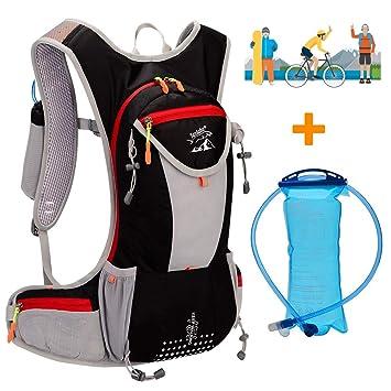 WLZP Mochila de hidratación con 2L Bolsa de Agua, Impermeable y Transpirable Vejiga de Agua Mochila el esquí, Funcionamiento, Senderismo, Ciclismo