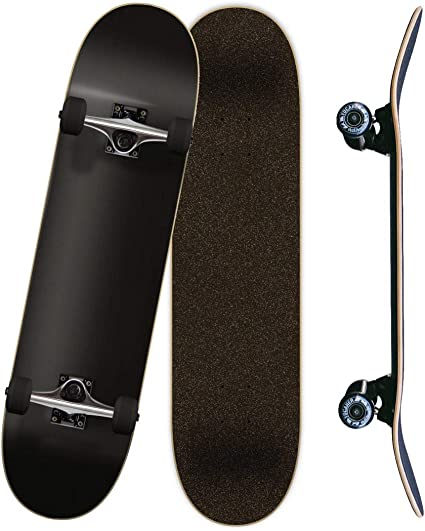 Yocaher Blank Complete Skateboard Stained Red