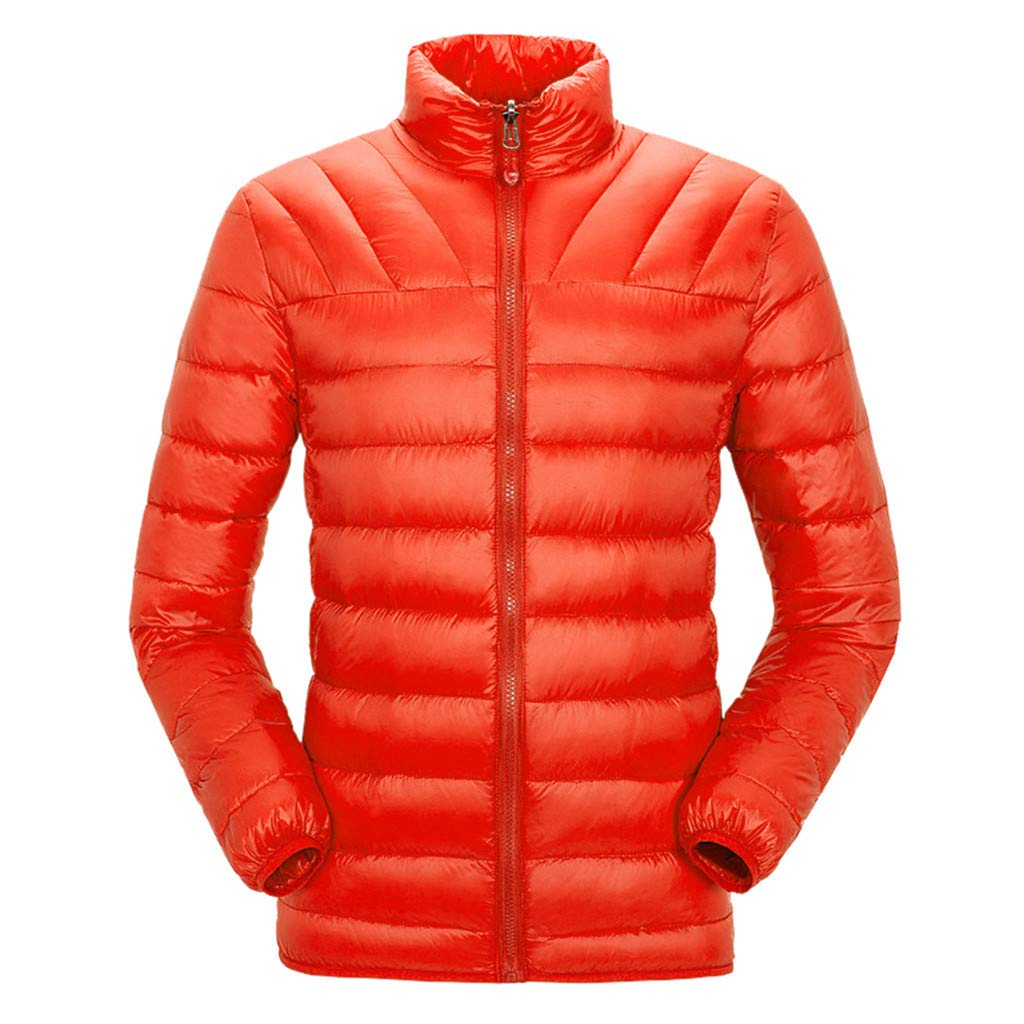 HebeTop  Men's Thermal Jacket Top Coat Falls 590 TurboDown Jacket, Thermal Reflective Warmth Orange by HebeTop➟Men's Clothing