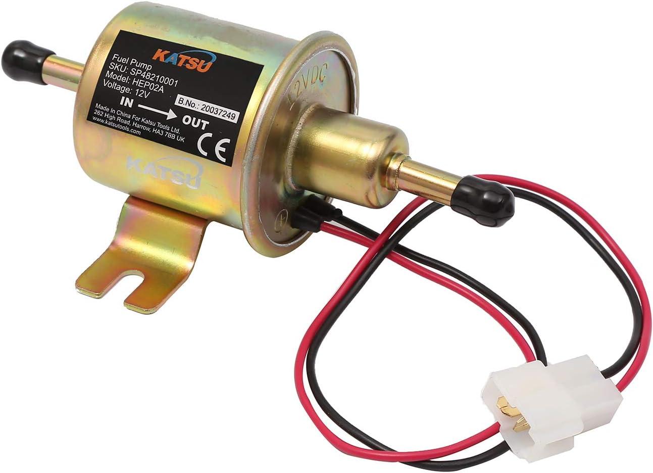 Pompe /à essence /électrique KATSU 12V Pompe /à carburant en ligne universelle basse pression
