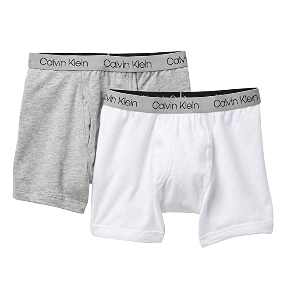 real quality temperament shoes search for genuine Calvin Klein New Boys Logo Boxer Shorts (2 Pack) - White ...