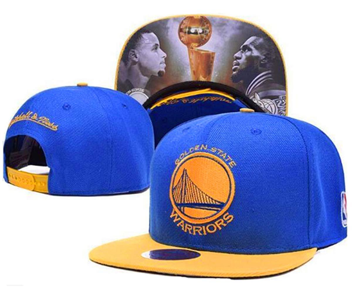 Unisex Adjustable Fashion Leisure Baseball Hat,Golden State Warriors Cap (Blue Print)