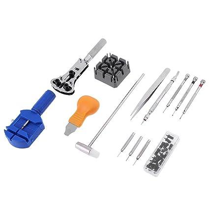 Prosperveil - 14 piezas de herramientas para relojes de pulsera, abridor de relojes, pines