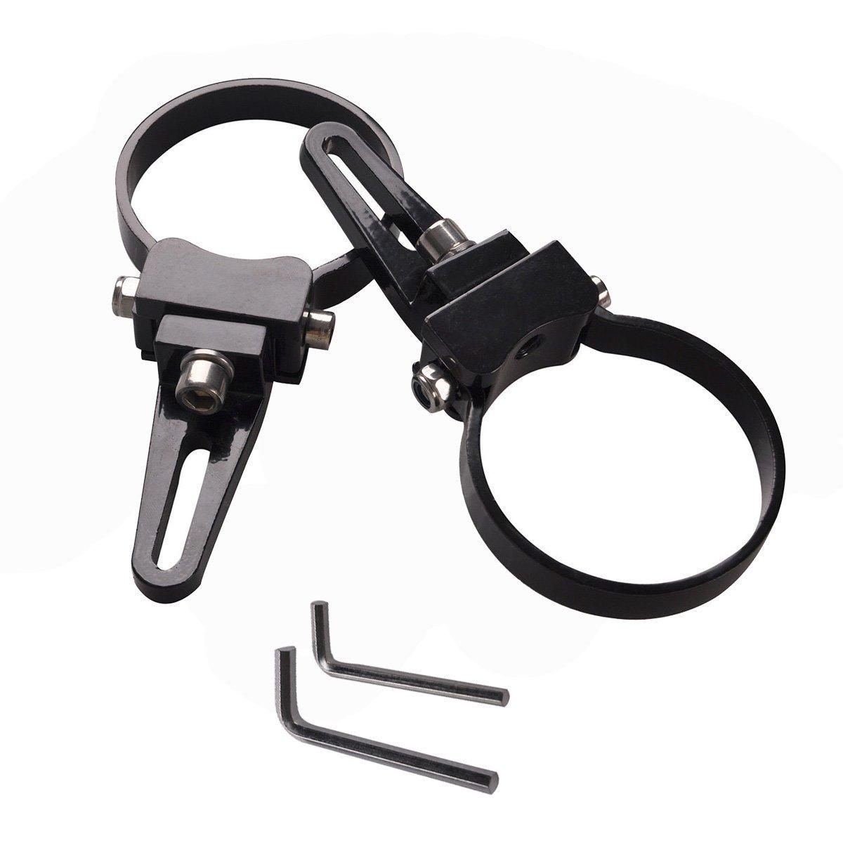 Lightronic 1.5// 38mm Supports de Montage Led Barres de Taureau Lumi/ère de Conduite Faisceau Ponctuelpour Lampe de Travail LED HID Barre Lumineuse