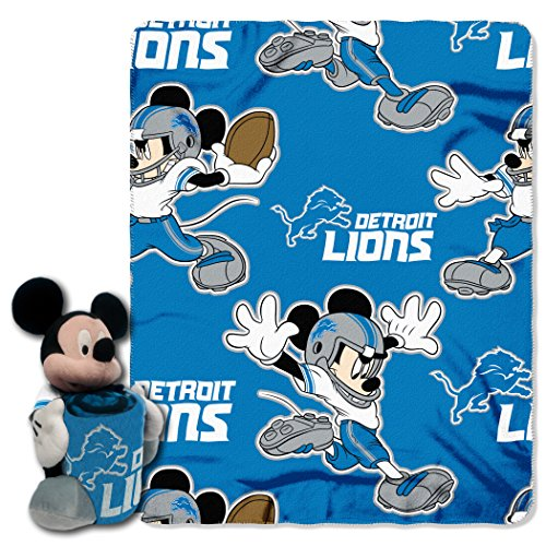 The Northwest Company Officially Licensed NFL Detroit Lions Co Mickey Hugger and Fleece Throw Blanket Set, 40