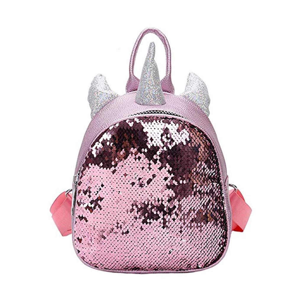 4974763c9d49 Bags us Women Girls Kids Dazzling Sequins Backpack with Cute Ears Schoolbag  Shoulder Bag Satchel