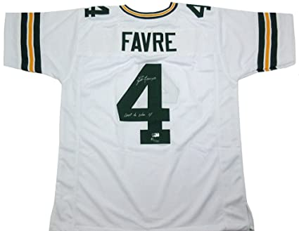 Brett Favre Autographed Signed Green Bay Packers Custom Away NFL ... 8e1ad345f