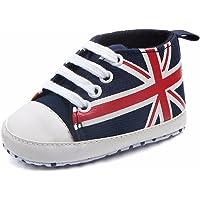 Baby Shoes Miuye Newborn Infant Baby Union Jack Flag Print Canvas Anti-Slip Soft Shoes Sneaker