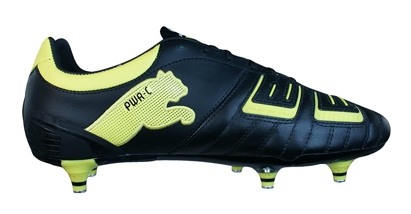 97efc861453c Puma Powercat 2.12 SG Rugby Mens Leather Rugby Boots-Black-11.5   Amazon.co.uk  Shoes   Bags