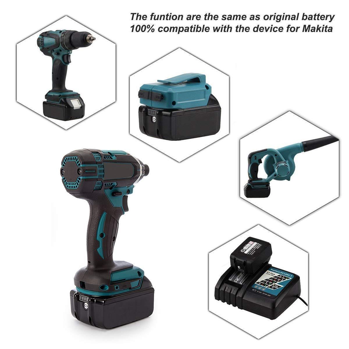 V 5,0Ah Li-ion Batterie de remplacement pour Makita BL BL30, BL40,  BL45,45-3, 4309-1 LXT400 Caractéristiques  100 % Nouveau Batterie Tension  V 8cf69434869