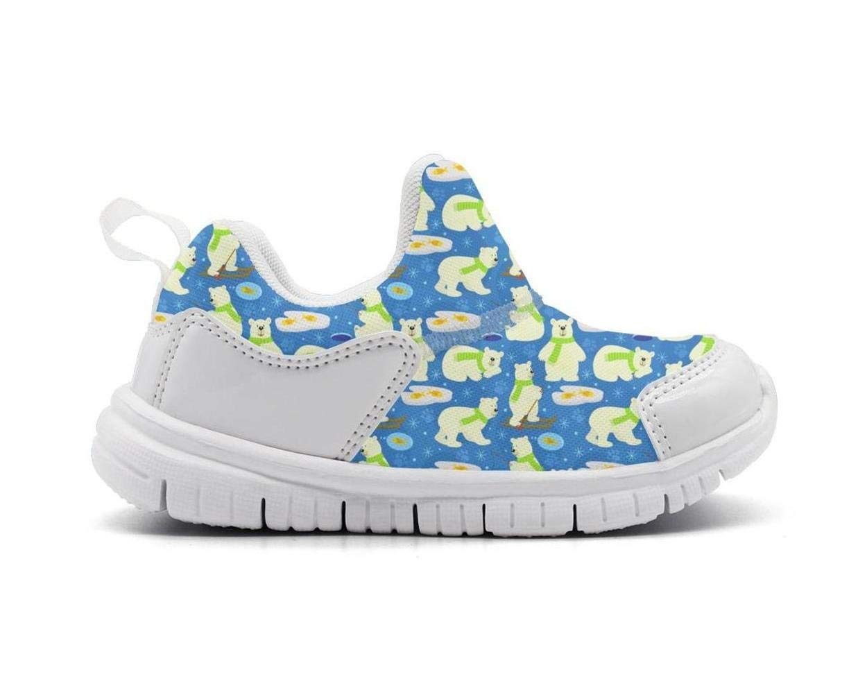 ONEYUAN Children Polar Bear go Fishing Kid Casual Lightweight Sport Shoes Sneakers Walking Athletic Shoes