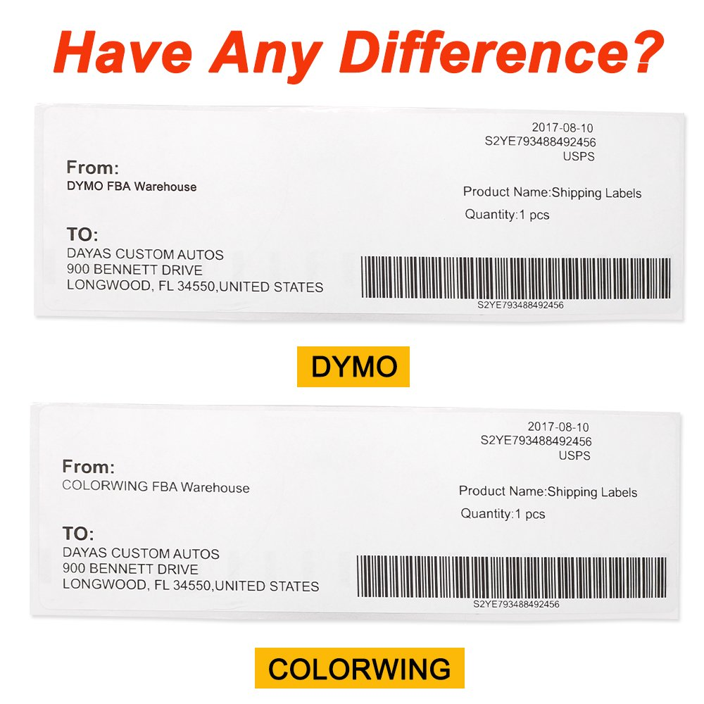 8 Rolls Compatible DYMO 99019 Label LW 1 Part Paypal/Ebay Internet Postage Labels (2 5/16'' x 7 1/2'') for LabelWriter 450 450 Turbo Label Printers -(110 per Roll) Self-Adhesive White by COLORWING (Image #4)