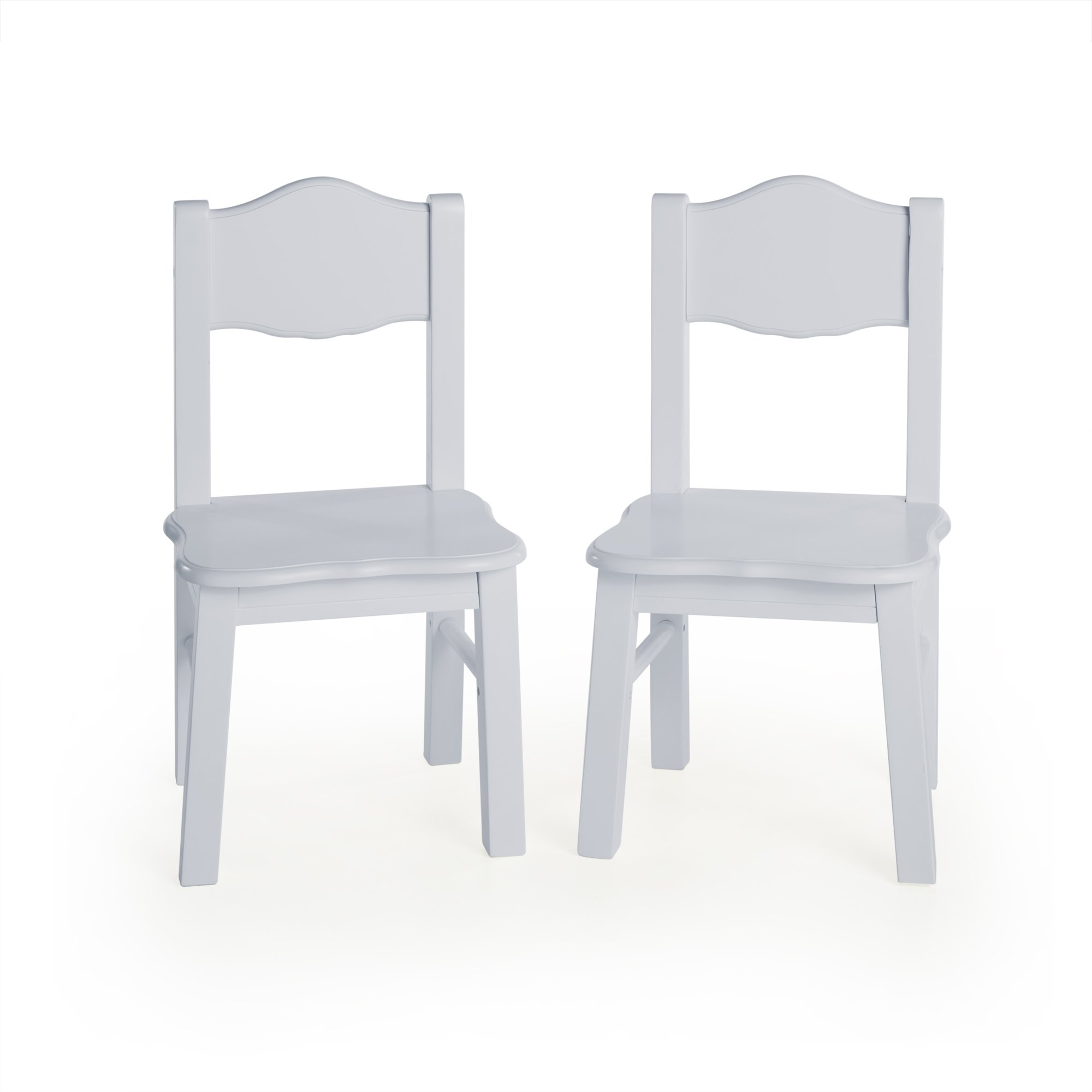 Guidecraft Classic Extra Chairs (Set of 2) - Gray: Kids School Educational Supply Furniture