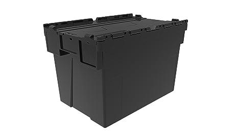 Contenedores de plástico, cajas completas con tapas de New Black Big, de