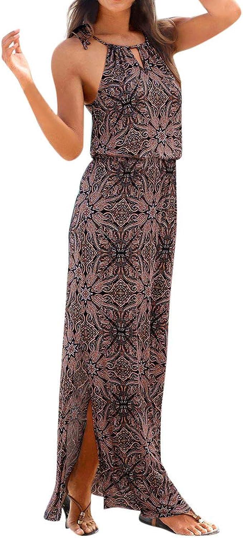 SCHOLIEBEN Kleid Kleider Sommerkleid Vintage Böhmische Damen Sommer  Festliche Jersey Schöne Elegante Abend Abschlussball Maxi Lang Sexy  Partykleid