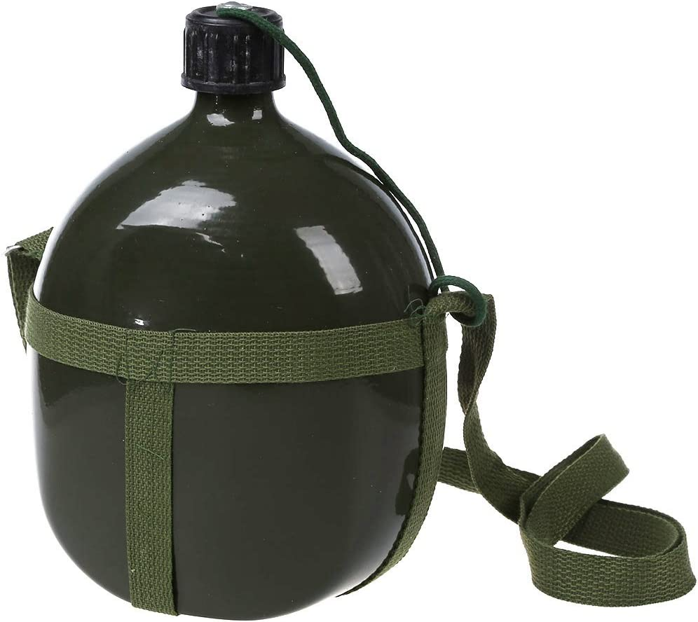 Gaetooely Cantimplora Militar de 2.5L Capacidad Verde del Ejercito con Correa de Hombro
