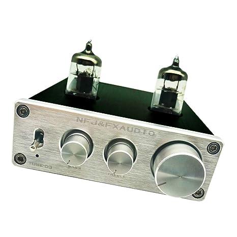 F Fityle Preamplificador de Válvula 6J1, Amplificador de Altavoz Auriculares Tubo de Vacío con Control