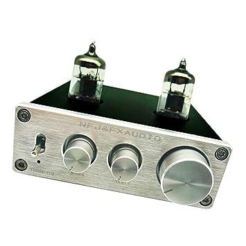 Baoblaze Preamplificador de Altavoz Amplificador de Auriculares de Tubo de Válvula 6j1 con Control de Volumen