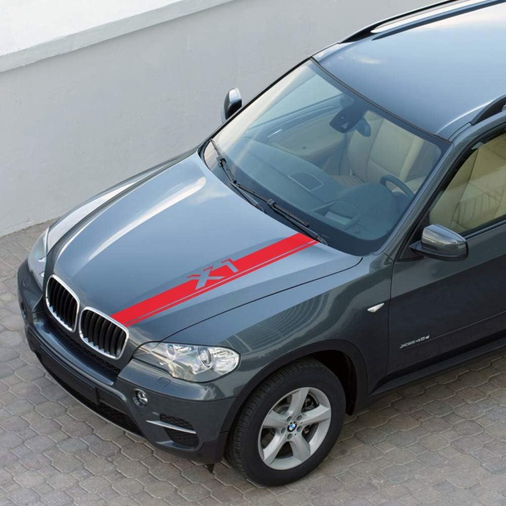 JIERS F/ür BMW X5 E53 E70 F15 G05 X1 F48 X3 F25 X6 E71 X2 F39 X4 F26 X7 G07 Autoaufkleber Autozubeh/ör Motorhaube Motorhaubenaufkleber