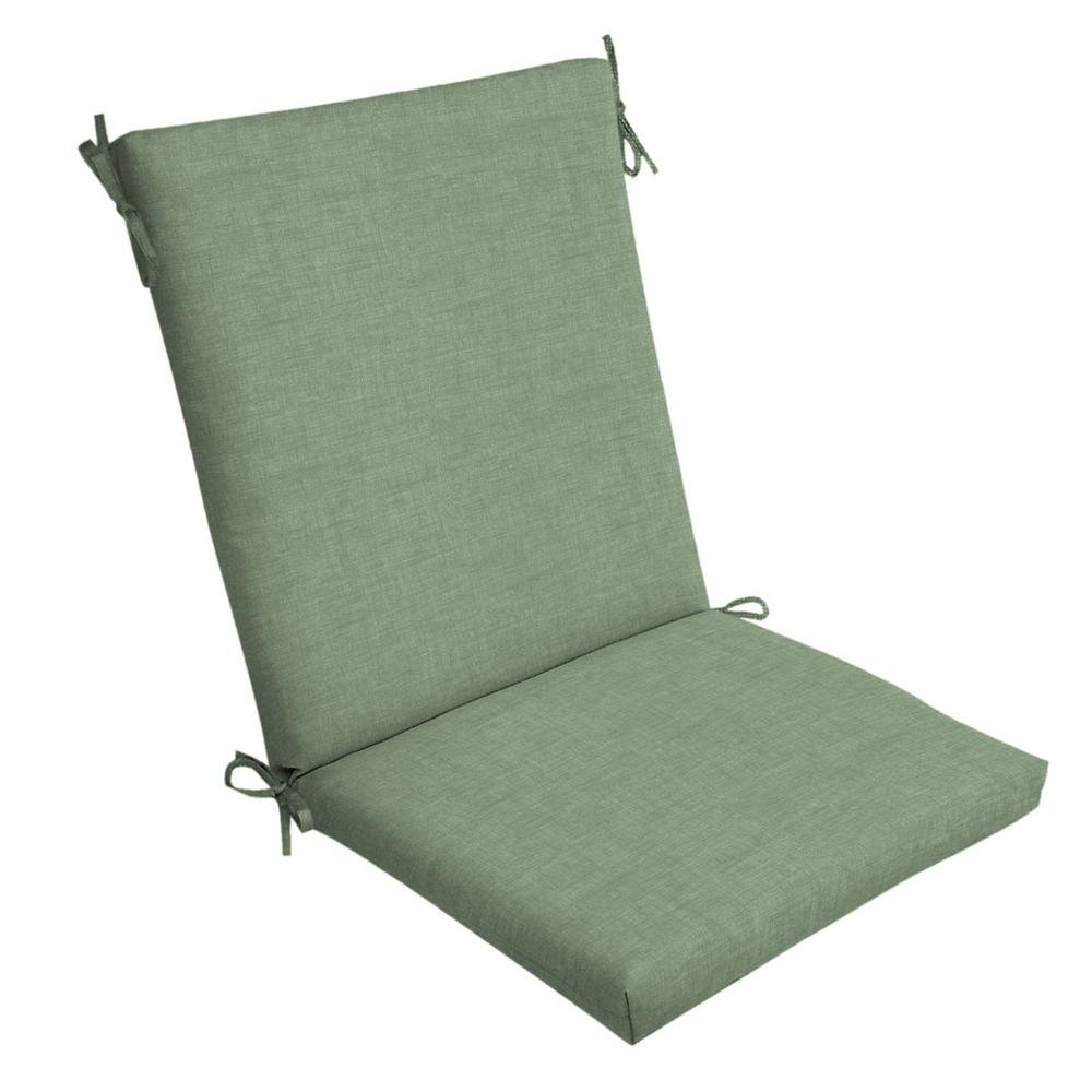 Amazon com arden selections jade leala texture outdoor dining chair cushion garden outdoor