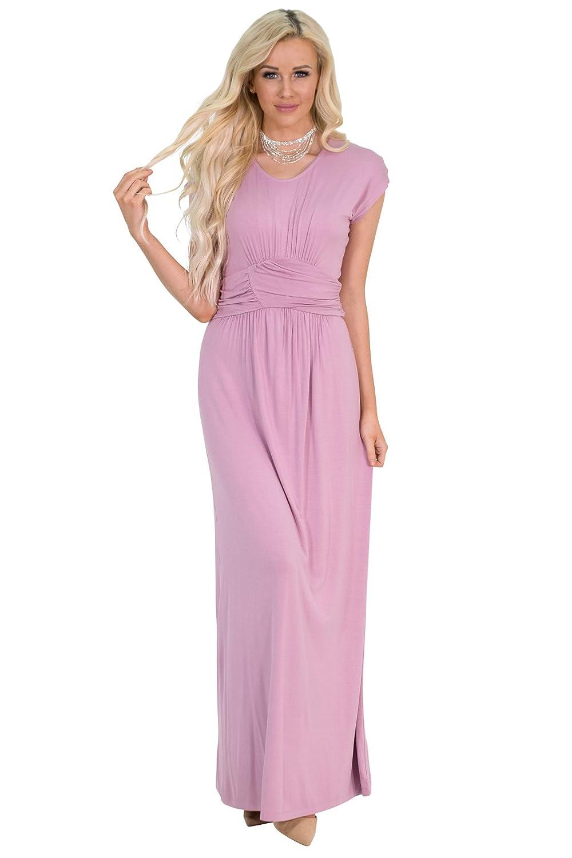 2d911677f873c Jen Clothing Athena Modest Maxi Dress or Modest Bridesmaid Dress:  Amazon.ca: Clothing & Accessories