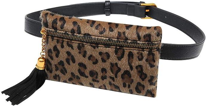 Womens Fashion Leopard Removable Belt Waist Bag Phone Bag